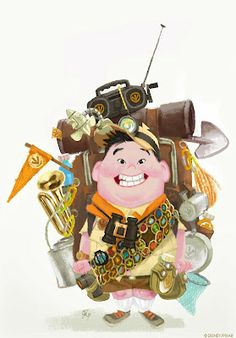 Russel is so funny  Living Lines Library: Up (2009) - Character Design