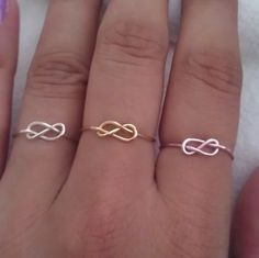 Dainty Infinity Ring by LulusDaintybowtique on Etsy