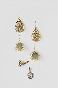 Fern Crystal Filigree Earring Set $22.00