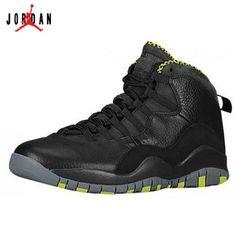 09d1c8477fad Air Jordan 10 Retro Black Cool Grey-Anthracite-Venom Green For Sale 10  Shoes Sale Online