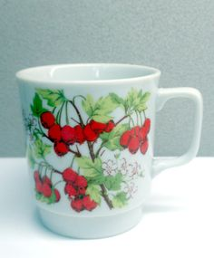 Vintage Cherry Mug by VintageWoods on Etsy, $9.00