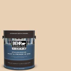 BEHR Premium Plus Ultra 1-gal. #S290-2 White Bean Hummus Satin Enamel Exterior Paint