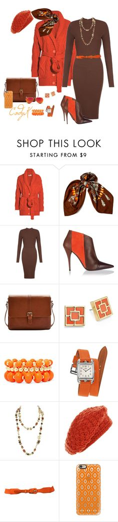 """""""Orange & Brown"""" by cody-k ❤ liked on Polyvore featuring MM6 Maison Margiela, Hermès, AX Paris, Narciso Rodriguez, Joules, Trina Turk LA, Mixit, Chanel, Casetify and Ray-Ban"""