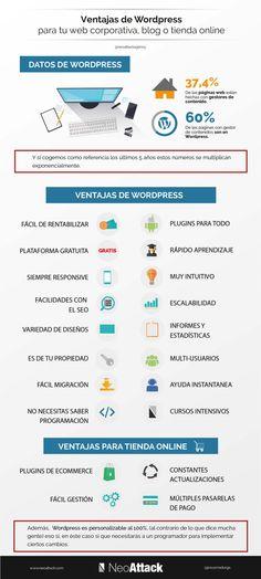 Ventajas de WordPress para tu web o blog #infografia #infographic #socialmedia