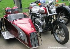 Triumph and sidecar