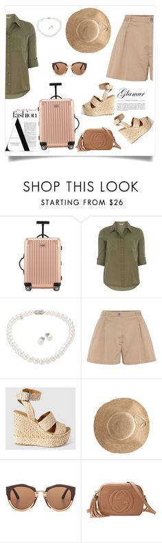 """Fashion Set"" by moneyinmyhoney ❤ liked on Polyvore featuring Rimowa, Dorothy Perkins, Mikimoto, Miu Miu, Hat Attack, Marni, Gucci, fashionWeek and fashionset"