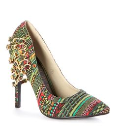 Look at this #zulilyfind! Red Kiss Green Keep It Coco Pump by Red Kiss #zulilyfinds