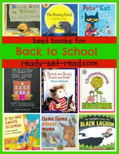 BOOK LISTS information blog page with preschool - gr. 1 books listed by theme, quite a few books listed, free information (not just back to school)