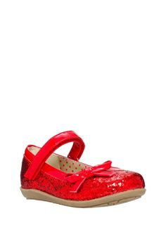 Clothing at Tesco   F&F Bow Glitter Ballerina Pumps > shoes > Shoes & Boots > Kids