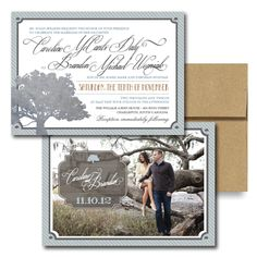 Caroline's Oak Tree Invitation, Wedding Invitations, Tree Wedding Invitation, Neutral Wedding Invitation, Outdoor Weddings, Forest, Orchard