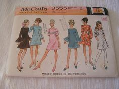 Vintage 1968 McCalls 9320 Sewing Pattern 3 Version Dress Women s Size 10 NEW