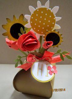 Scrap Happens Here  Curvy Keepsake box flowers