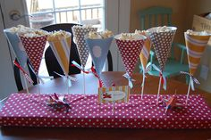 Bless Our Nest: Party Pictures-Airplane Theme Harry Birthday, Happy Birthday Baby, Birthday Parties, Birthday Ideas, Popcorn Stand, Popcorn Cones, Popcorn Maker, Outdoor Birthday, Cute Snacks