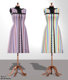 Working on textures for Dawn's Farmwifedress. Stripe-pattern