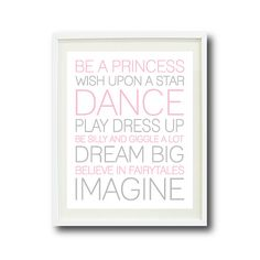 Hey, I found this really awesome Etsy listing at https://www.etsy.com/listing/154730826/baby-girl-playroom-rule-quote-8x10-light