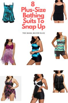8 Plus-Size Bathing Suits To Snap Up Right Now #swimwear #plussizefashion #plussizeswimsuits #plussizebathingsuits #bathingsuits #summer Swim Dress, Plus Size Swimsuits, Cute Swimsuits, Fashion Tips For Women, Kids Fashion, Plus Size Romper, Plus Size Workout, Spring Skirts