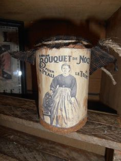 PriMitivE FreNch CouNtry GruBBy BouQuet De NoCe TiN CaN CuPboArd TuCk HoMesPun #HandmadeByNannysattic15 Ebay Sold