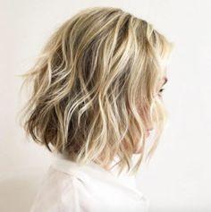 Dynamic blonde and brown choppy bob by Liz Sustaita