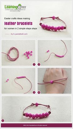 leather bracelets diy