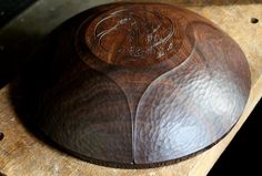 Beauty. David Fisher's large hand carved walnut bowl.