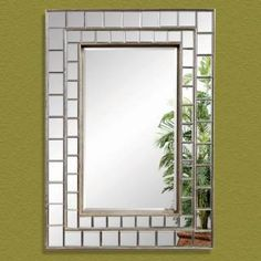 Check out the Bassett Mirror M3048BEC Neo Wall Mirror in Antique Pewter priced at $293.40 at Homeclick.com.