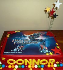 Transformers Picture Cake