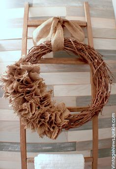 How to make a burlap wreath - with a video tutorial!
