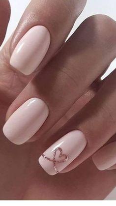 nails for prom pink * nails for prom . nails for prom silver . nails for prom white . nails for prom pink . nails for prom black . nails for prom red dress . nails for prom neutral . nails for prom gold Heart Nail Designs, Valentine's Day Nail Designs, Nail Designs With Hearts, Easy Nail Art Designs, Cute Simple Nail Designs, Light Pink Nail Designs, Gel Manicure Designs, Gel Polish Designs, Accent Nail Designs
