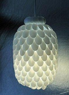Светильник из пластиковых ложек своими руками - Поделки с детьми | Деткиподелки