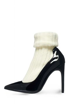 Jeffrey Campbell Shoes PRISTINE Heels in Black Patent Ivory