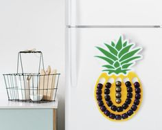 And a magnetic, pineapple-shaped coffee pod holder you can hang right on your fridge. | 39 Awesome Things You Never Knew You Needed For Your Kitchen