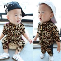 6ddb6c10015c Leopard Print Baby Clothes Promotion-Shop for Promotional Leopard Print Baby  Clothes on Aliexpress.com