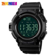 Buy now SKMEI Bluetooth Smart Watch Men Sports Watches Pedometer Calories Chronograph Fashion 50M Waterproof Digital Wristwatches 1245 just only $19.99 with free shipping worldwide  #menwatches Plese click on picture to see our special price for you