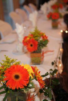 Fall wedding table decor.