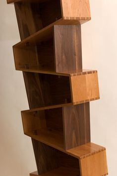 Contemporary design with traditional (albeit routed) dovetail joinery.  I've never been a fan of adjustable shelving, which was the genesis for a fixed shelf case that could...
