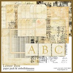 Letter Box Kit - Digital Scrapbooking Kits DesignerDigitals