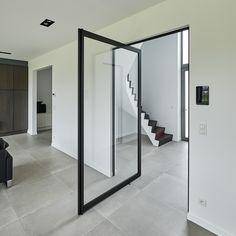 Steel look taatsdeur Future House, Man Cave, Sweet Home, New Homes, Mirror, Furniture, Glass Doors, Home Decor, Dressing