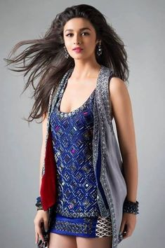 Alia Bhatt's stunning photoshoot for Anushka Khanna's Autumn/Winter 2013 Collection, titled Starry, Starry Night. #Bollywood #Style #Fashion