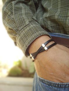 Free Shipping. Men's Leather Bracelet: Genuine by SonseraeDesigns