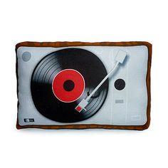 Mini Pillow  Vintage Vinyl Player by mymimi on Etsy, $18.00