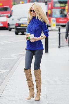 claudia schiffer in knee high boots