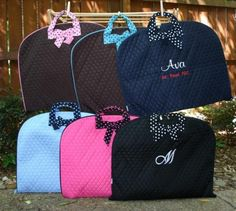 Quilted Cotton Garment Bag  Personalized with by thegroovymommy, $28.00