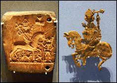 DER PILGER: Pilgerabzeichen und Schimmel, 1340-1380 / Pilgrim badge and mould, 1340-1380