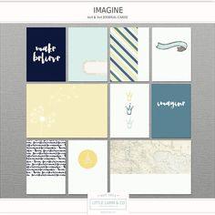 NEW!  Little Lamm & Co. Digital - Imagine - Pocket Scrapbook Card PNGs and Printables - Reg Price 4.25