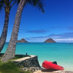 Lanikai Beach is located in Kailua on the island of Oahu. It is often rated the #1 beach in the world! #Hawaii