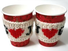 Love heart cup cosy