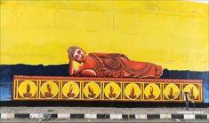 Buddha Art, Street, Buddha Artwork, Walkway