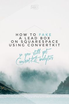 How to fake a LeadBox on Squarespace using ConvertKit — Tors G Business Marketing, Email Marketing, Content Marketing, Social Media Marketing, Digital Marketing, Creative Business, Business Tips, Online Business, Web Design