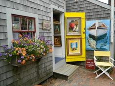 Ireland Galleries located on Old South Wharf.  Photo by heartofnantucket.com