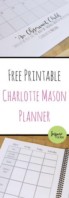 Free Charlotte Mason Homeschool Planner - Inspire the Mom